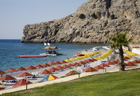 Отель KOLYMBIA BEACH(4*), фотография 02; пляж