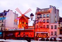 Описание: Достопримечательности Парижа. Монмартр, кабаре Мулен Руж.